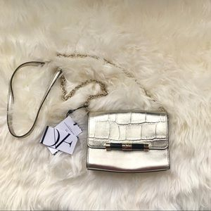 Rare DVF Mini Metallic Embossed Croc Crossbody